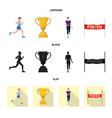 sport and winner icon vector image vector image