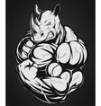 Strong rhinoceros vector image vector image