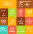 take away food vector image vector image