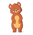 teddy bear stands on a white background vector image