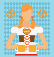 traditional oktoberfest woman icon vector image vector image