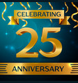 twenty five years anniversary celebration design