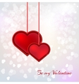 Valentines day card on background vector image vector image