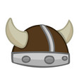 viking helmet isolated vector image vector image