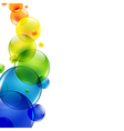 Abstract Background With Color Balls vector image