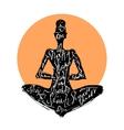 Yoga woman Typography poster vector image