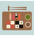 Sushi and rolls vector image