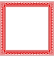 Unique knitted frame with geometric ornament vector image