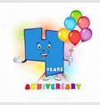 4 anniversary funny digits