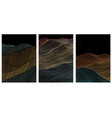 abstract landscape background with line pattern vector image vector image