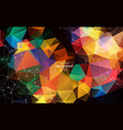 abstract polygonal low poly dark background with vector image