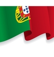 Background with waving Portuguese Flag vector image vector image