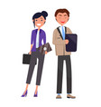 business consultants discussing financial problems vector image vector image
