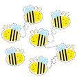 buzzy bees vector image vector image