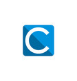 c letter blue square logo template design eps 10 vector image vector image