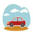 car sedan vehicle icon vector image vector image