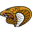 cobra head logo mascot vector image vector image