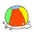 comic cartoon beach ball vector image vector image