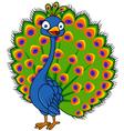Cute Peacock cartoon vector image