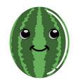 cute watermelon emoticon vector image vector image