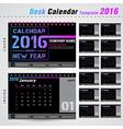 Desk calendar 2016 modern template for office vector image vector image