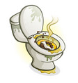 dirty toilet cartoon vector image vector image