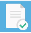 Document and Check Mark Icon vector image vector image