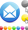 e-mail glossy button vector image vector image