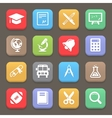 Education icons for web or mobile vector image vector image