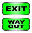 exit and way out vector image vector image