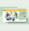 family time landing web page template pillow vector image