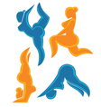 fat fitness vector image vector image