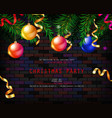 festive christmas and new year 2020 party flyer vector image vector image