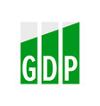 gdp economic growth icon gross domestic product vector image vector image