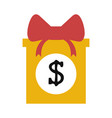 Gift box with money icon image