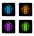 glowing neon smart home - remote control system vector image vector image
