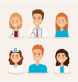 healthcare medical staff characters vector image