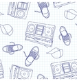 hip hop music seamless pattern vector image vector image