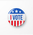 i vote 2020 united states america presidential vector image vector image
