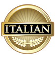 Italian Gold Label vector image