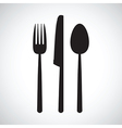 kitchen knife and fork set vector image vector image