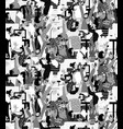 large group happy people rejoices office grayscale vector image