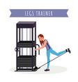 legs training apparatus flat vector image vector image