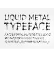 Liquid metal typeface vector image vector image