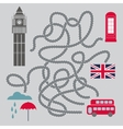 Maze With London Symbols vector image