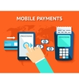 Mobile payments and near field communication NFC vector image