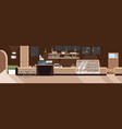 modern cafe empty no people restaurant vector image vector image