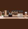modern cafe empty no people restaurant vector image