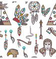 native american indians traditional culture vector image vector image