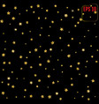 pattern with stars gold stars for your design vector image vector image